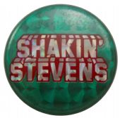 Shakin' Stevens - 'Name Green' Prismatic Button Badge